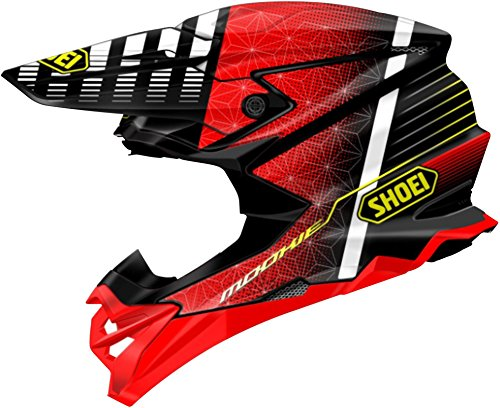 Tc1 Helmet - Shoei VFX-EVO Malcom Helmet TC-1 (Red, XX-Large)
