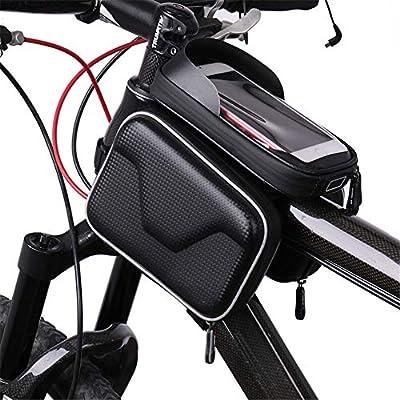 Yuqianqian Bolsa Manillar Bicicleta Impermeable Pantalla táctil ...