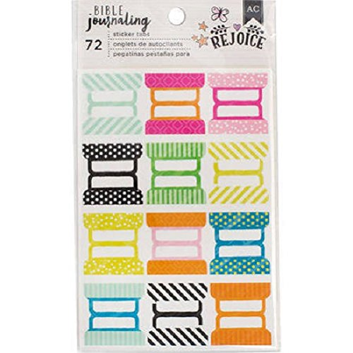Bible Journaling Sticker Tabs 6 Packs 12 Designs 378677