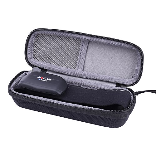 for Polar Heart Rate Sensor/Monitor/ Fitness Tracker Chest Strap Hard Case fits H7/H10/Wearlink by Aenllosi (Black)