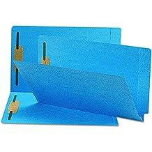 Smead End Tab Fastener Folder, Shelf-Master Reinforced Straight-Cut Tab, 2 Fasteners, Legal, Blue, 50 per Box (28040)