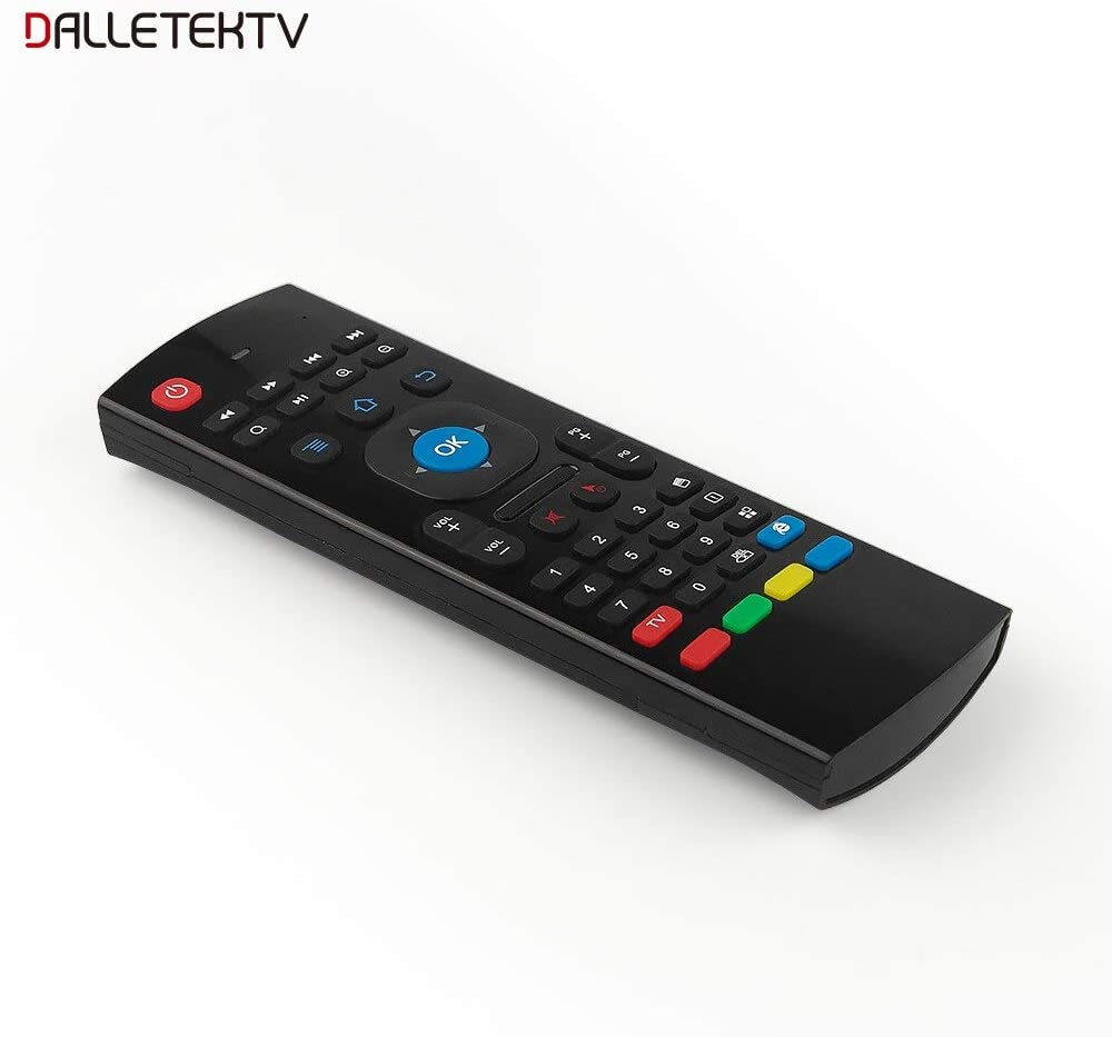 Color: Black Calvas MX3 Fly Air Mouse 2.4GHz Wireless Mini Remote Control with QWERTY Keyboard for Universal Android 6.0 7.1 Smart TV Box