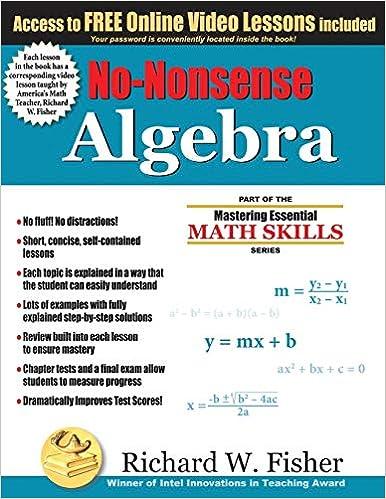 No-nonsense Algebra Book