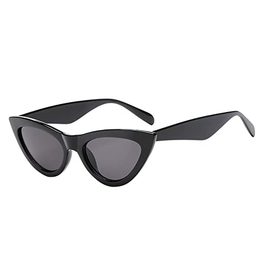 28c02f6ce1c3d Islandse💖💖Retro Vintage Cat Eye Unisex Sunglasses Rapper Grunge Eyewear  (A)