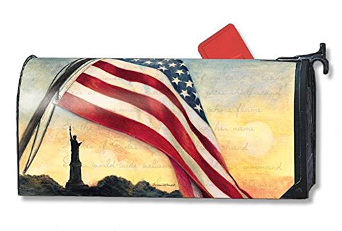 MailWraps Liberty at Sunset Mailbox Cover #01100