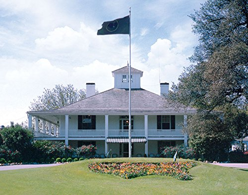 Augusta National Clubhouse Front, Masters, Vintage Wall Print - 11x14 - Color (Augusta Golf)