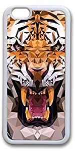 iPhone 6 Cases, Tiger 3D Personalized Custom Soft TPU White Edge Case Cover for New iPhone 6 4.7 inch