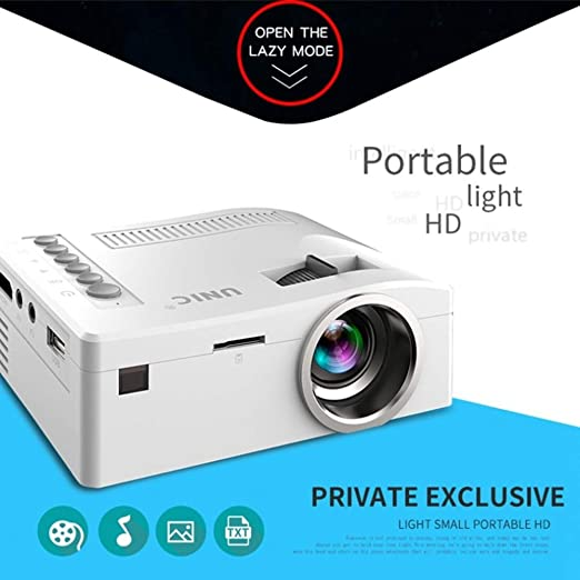 KAIDILA Proyector, proyector portátil de 500: 1 de UC18 Mini LCD ...