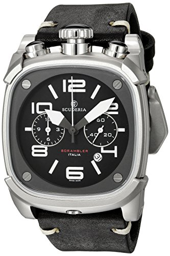 CT-Scuderia-Mens-Scrambler-Swiss-Quartz-Stainless-Steel-and-Leather-Casual-Watch-ColorBlack-Model-CS70111N