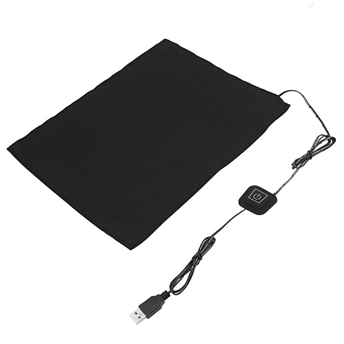 5V USB Carbon Fiber Heating Pad 3-Shift Electric Cloth Heater Pad Heating Element for Neck, Back, Abdomen, Lumbar Heating, Heating Pad Pet Warmer