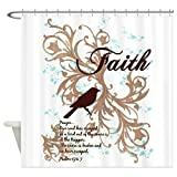 Shower Curtain Faith Prayer Dove Christian Cross