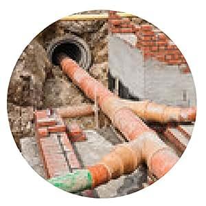 alfombrilla de ratón Alcantarillado rehabilitación - desarrollo de la pared de nuevos pozos - ronda - 20cm
