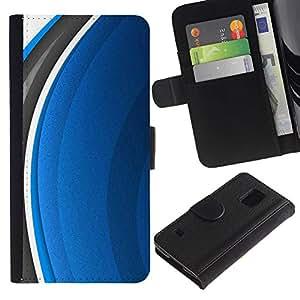 iBinBang / Flip Funda de Cuero Case Cover - Resumen Azul - Samsung Galaxy S5 V SM-G900