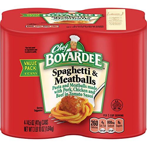 (Chef Boyardee Spaghetti and Meatballs, 14.5 oz, (Pack of 4 ))