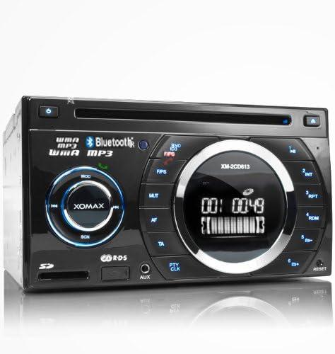 Xomax Xm 2cdb614 Mp3 Autoradio Mit Cd Player Bluetooth Freisprecheinrichtung Cd Usb Anschluss Sd Karten Slot Wma Doppel Din Din 2 Inkl Fernbedienung Navigation
