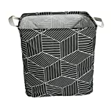 QFDSlive Laundry Basket, Collapsible Rectangular Laundry Hamper Storage with Carry Handles, Bathroom, Toys, Clothes, and More
