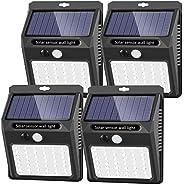 Solar Lights Outdoor, 42 LED 3 Working Mode,SEZAC Solar Security Lights Solar 120° Wide Angle Lighting Solar M