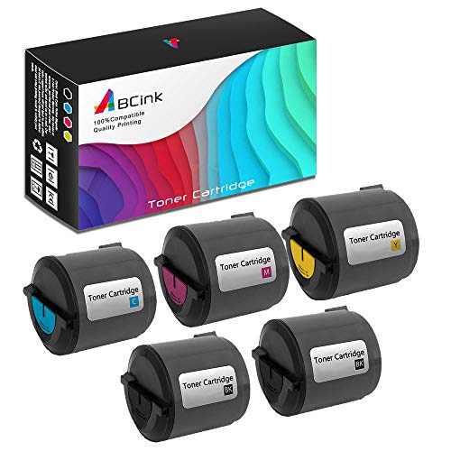 (ABCink Compatible Toner Cartridge Replacements for Xerox 106R01274 106R01271 106R01272 106R01273,for use in Xerox Phaser 6110 6110MFP,5 Pack(2 Black,Cyan,Yellow,Magenta))