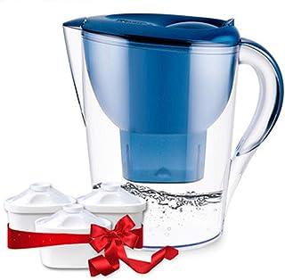 FHer-Water Filter Jug Net Bouilloire Cuisine purificateur d'eau de la Maison Eau Potable pré-Filtre Filtre Bouilloire Purification Tasse 3.2L Bouilloire Filtre Eau du Robinet