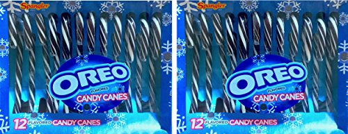 Oreo Flavored Candy Canes Christmas Canes Rare (2) -