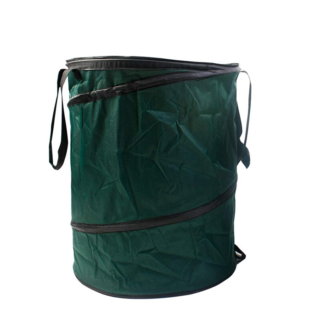 Garden Garbage Bag Large Waterproof Heavy Garbage Bag Can Be Reused Foldable Courtyard Bin (Color : Nylon) by Cherlvy