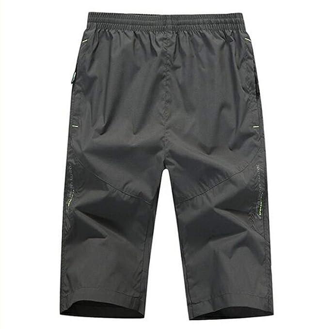 Hombres Jóvenes Pantalones Cortos Ocasionales Rectos Sueltos ...