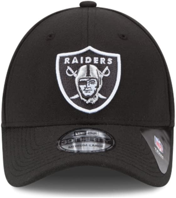 New Era Oakland Raiders OTC Team Youth Classic 39THIRTY Stretch Fit Hat Black