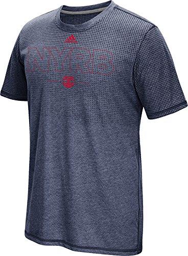 MLS New York Red Bulls Men's Club Authentic 16 Climacool Short Sleeve Tee, Medium, Heathered Navy