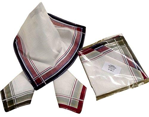 6 Herren Stoff-Taschentücher in unterschiedlichen wählbaren Designs, 40 cm x 40 cm (40 cm x 40 cm, Farbvariante 11)