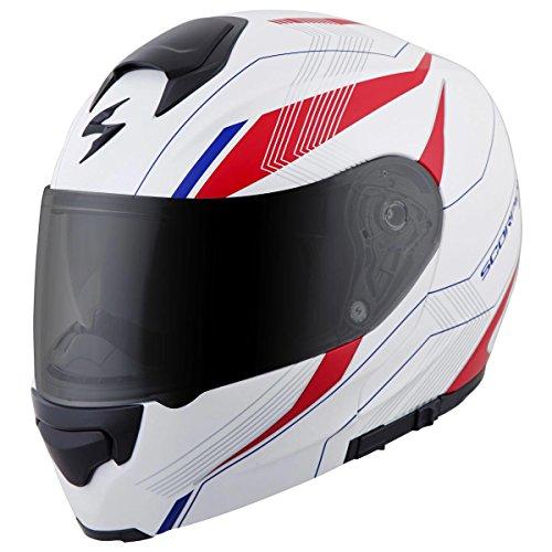 ScorpionExo EXO-GT3000 Sync Full Face Modular Helmet (White/Red/Blue, X-Large)
