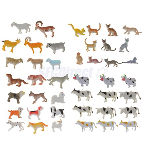 44Pcs Plastic Farm Animal Model Action Figure Kids Educational Teaching Toys