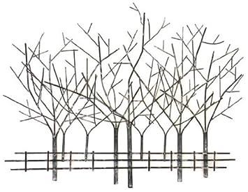 wall art metal wall art winter tree scene: tree scene metal wall art