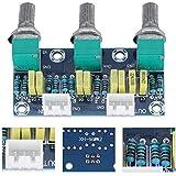 Zerone Preamplifier Module Board 3 Channels Pre-Amplifier Module Toning Board for Audio XH2.54 3P Socket