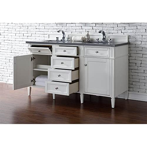 lovely Double Sink Vanity with Shadow Gray Quartz Top