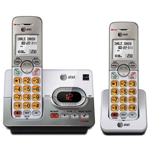 AT&T EL52203 2 Handset Cordless Answering System with Caller ID/Call Waiting (Certified (Att Cordless Telephone)