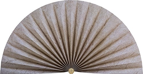 Neat Pleats Decorative Fan, Hearth Screen, or Overdoor Wall Hanging - L488 - Light Beige Marble with Hash-marks by Neat Pleats