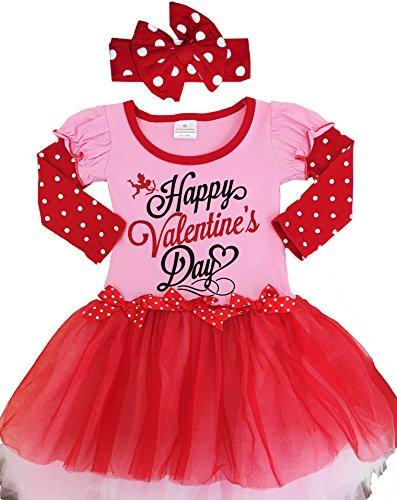 Valentines Day Dress (Girls Valentine Tutu Dress Set 6T