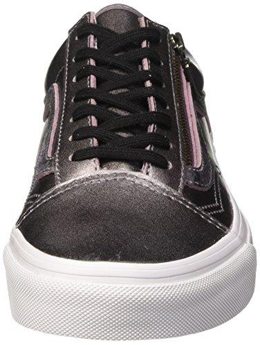 Metallic Baskets Zip Old Mixte Leather True Thistle Purple Violet Vans Basses Skool Adulte White WwB8q68tac