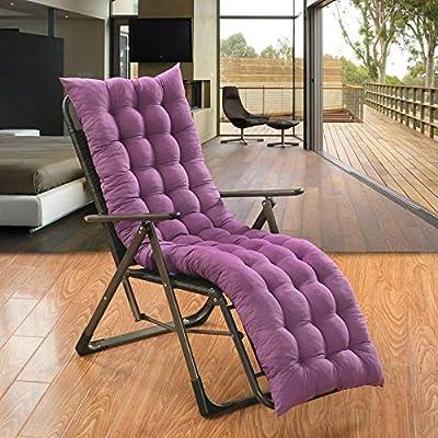 boyspringg Lounge Chair Cushions Patio Chaise High Back Chair Cushion Pad Mat Outdoor Furniture Deck Chair Seat Mattress for Garden Outdoor Beach : Garden & Outdoor