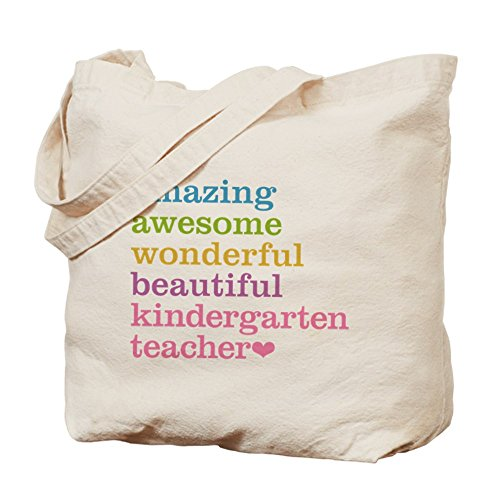 Cafepress – Kindergarten Teacher – Borsa di tela naturale, tessuto in iuta