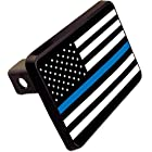 Thin Blue Line American Flag Trailer Hitch Cover Plug Police Novelty