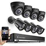Amcrest 960H 8CH 1TB Security System - Eight 800+ TVL IP66 Bullet and Dome cameras (Black) (Certified Refurbished)