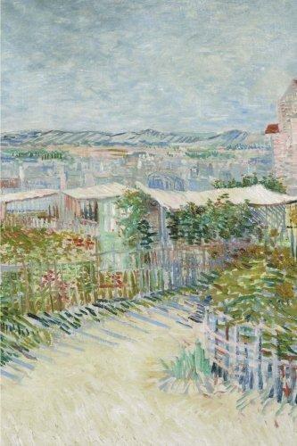 Moulin Montmartre Galette De La (Montmartre: behind the Moulin de la Galette: Blank Journal; Vincent van Gogh notebook / composition book, 140 pages, 6 x 9 inch (15.24 x 22.86 cm) Laminated)