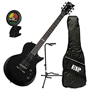 esp ltd ec 10 blk electric guitar w gig bag tuner and stand musical instruments. Black Bedroom Furniture Sets. Home Design Ideas