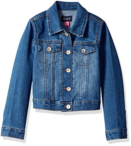 Denim Girls Dark (The Children's Place Big Girls' Denim Jacket, AZUREWASH, S (5/6))