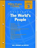 People, Places and Change, Holt, Rinehart and Winston Staff, 0030374995
