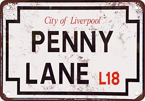Beatles Penny Lane Street Sign Vintage Look Reproduction Metal Tin Sign 12X18 Inches from VinMea