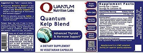 Quantum Nutrition Labs Kelp Blend, 360 Vegetarian Caps, Botanical Formula Premier Research Thyroid & Hormone Support Iodine