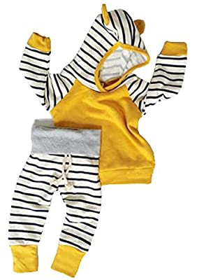 Baby Girls Boys Long Sleeve Hooded Tops + Leggings Trousers Outfits Set Clothes by Aliven that we recomend individually.