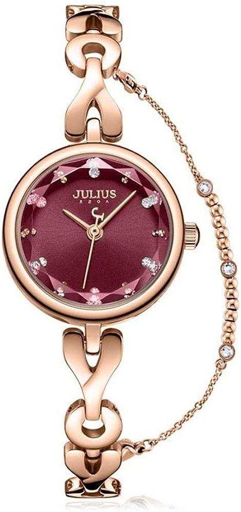 Julius Mode Montre étanche Bracelet Beau Petit Mouvement Quartz Cadran Montres Femmes. A